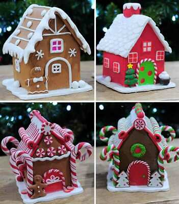 LED Gingerbread House 13cm Christmas Scene Table Decorations Lights