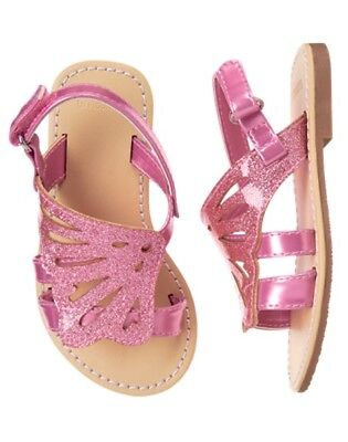 NWT Gymboree Girls Sandals Pink Butterfly 4,5,6,7,8,9,10,12,13,1,2,3,4