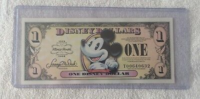DISNEY DOLLAR - 2008 - $1 80th Anniversey / Mickey Mouse - New - uncirculated