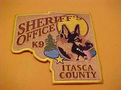 Itasca County Minnesota K-9 Police Patch Shoulder Size Unused