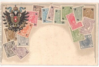 Ottmar Zierhar,  Munchen stamps of Austria on postcard No 5 embossed (Crest)