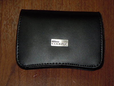 New OEM Genuine Nikon Leather Carrying Case for Coolpix Digital Cameras - 11741