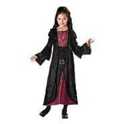 Nwt-Girls Totally Ghoul Nero Burgundy la Regina Cattiva Halloween Abito 1578238971f0