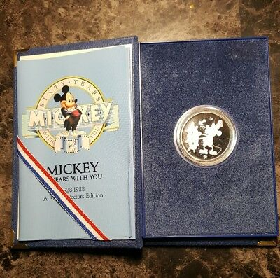 Disney's Mickey Sixty Years With You  Silver Coin 1 Troy Steamboat Willie