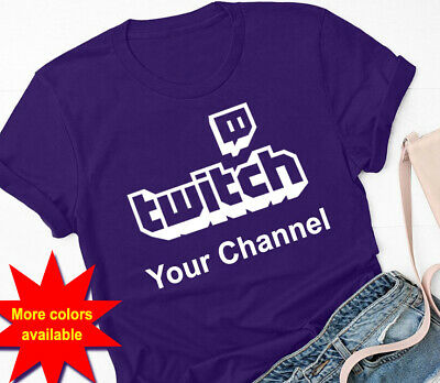 Twitch logo Personalized Custom T-shirt (Your Channel broadcast Streamers Gift