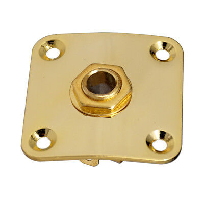Electric Guitar Jack Plate Socket Cover Square for LP Guitar Bass Part Gold