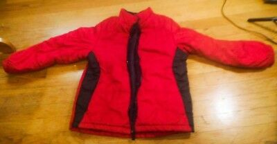 Faded Glory Boys Girls Size L/G 10-12 Red Black Winter Puffer Snow Coat Jacket