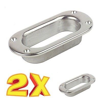 2pcs STAINLESS STEEL 316 OVAL HAWSE PIPE MOORING ANCHOR ROPE CHAIN LINE #2