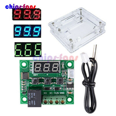 W1209 Digital DC 12V NTC10K 1% 3950 Cable Thermostat Temperature Controller