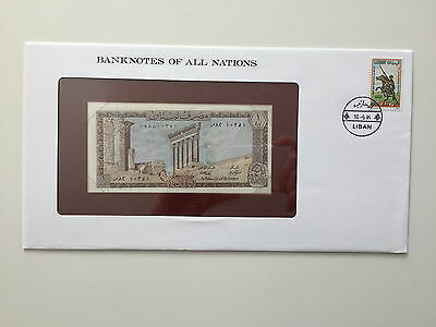 Banknotes of All Nations – Lebanon one livre UNC