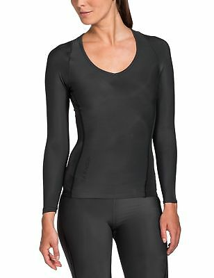 SKINS Women's RY400 Recovery Long Sleeve Top, Black, XLH