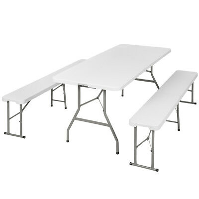 Folding portable table benches camping set garden dining furniture set foldable