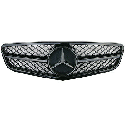 NEW! Front Black AMG Grill Grille For Mercedes-Benz W204 C-Class 2007-2014