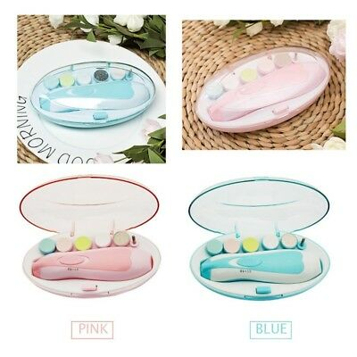 Baby Electric Nail File Tools Safe Trimmer for Newborn Toddler Toes Fingernails