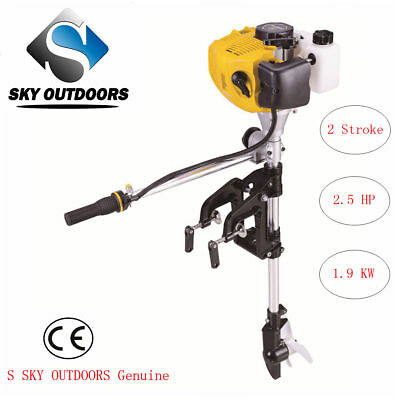 SKY 2 Stroke 2.5HP Superior Engine Outboard Motor for Inflatable Kayak Fishing