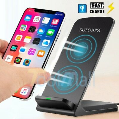 Wireless Qi Fast Charger Charging Stand Dock Pad for Samsung Galaxy S9 S8 Plus X