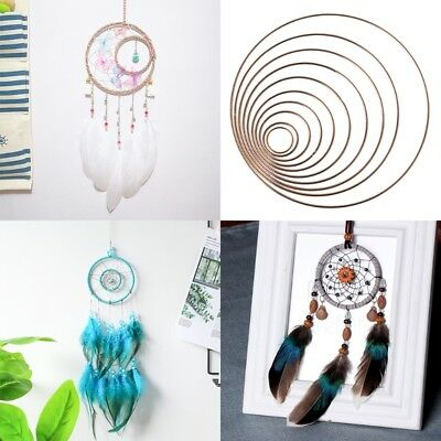 35-190mm DIY Dream Catcher Hoop Ring Metal Hanging Decor Craft Pendant Handmade