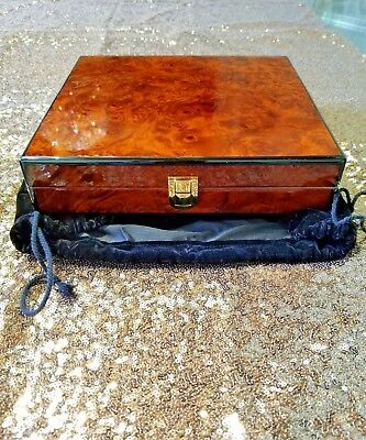 Daniel Marshall Burl Wood Travel Humidor ( no blemishes )