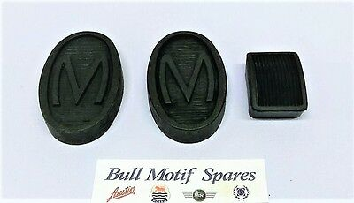 Morris Minor 'm' Pedal Rubbers Set(All Models)Special M Embosed
