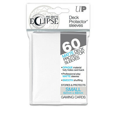UP - Small Sleeves - PRO-Matte Eclipse - White (60 Sleeves) - YuGiOh Ultra Pro