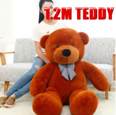 1.2M Teddy Bear Animal Doll Brown Christmas Gift Giant Huge Cuddly Stuffed Plush