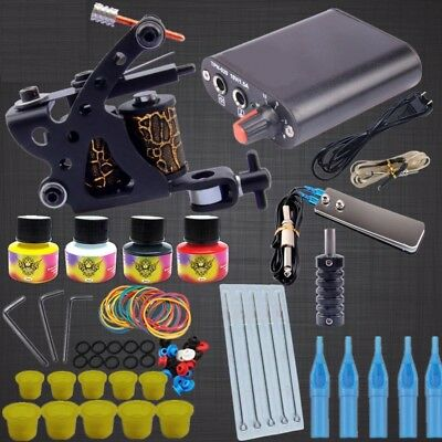 Professional Tattoo Kits Top Artist Complete Set 1 Tattoo Machine Lining Shading