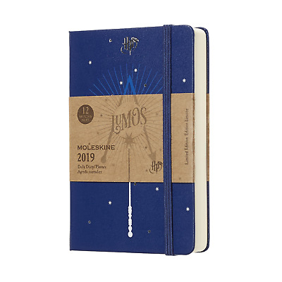 Moleskine Agenda 2019 Harry Potter giornaliera pocket 9x14 cm limited editon blu