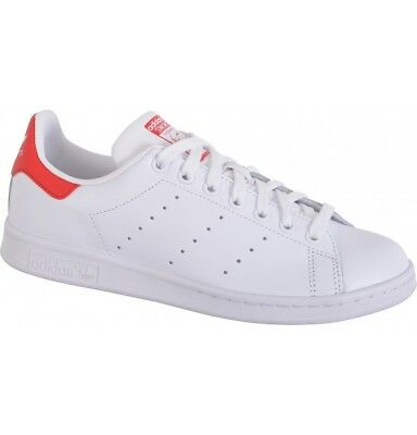 reputable site 57d03 80c13 Scarpe Adidas Stan Smith M20326 Bianco Rosso Calzature Uomo Sneakers Shoes  Nuovo