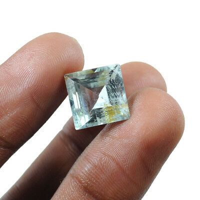 Certified 7 Ct Natural Untreated Breathtaking Aquamarine Square Cut Gem For Ring
