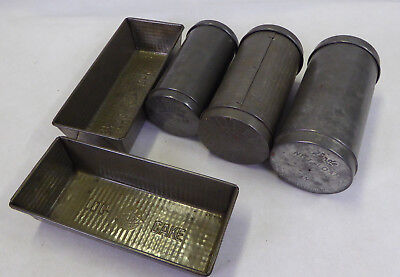 Vintage Retro Willow & Kande Log cake & Nut Loaf Tins x 5