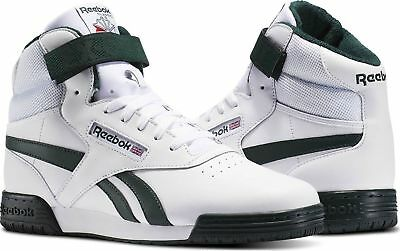 Reebok Classic EX-O-FIT Clean Hi Sizes 6-9 White RRP £85 BNIB BS5324 RARE