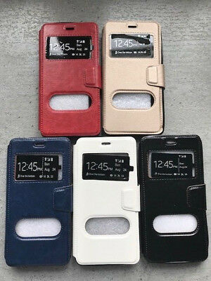 Coque Etui Portefeuille Cuir Double fenêtres Housse  Huawei y5 2018 Huawei y5