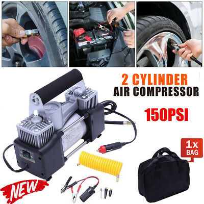 12V 150PSI Electric Air Compressor Portable Pump Mini Inflator Tyre Car Van Bike