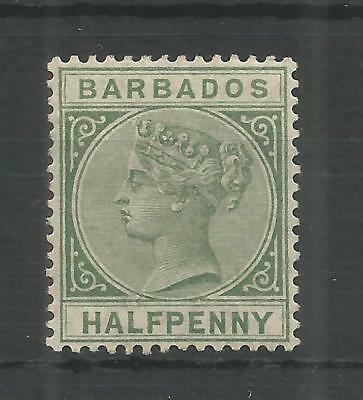 BARBADOS 1882 QUEEN VIC 1/2d DULL GREEN SG,89 M/MINT LOT 13B