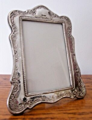 "HALLMARKED BIRMINGHAM SOLID BRITANNIA SILVER PHOTO PICTURE FRAME 8"" x 6.5"""