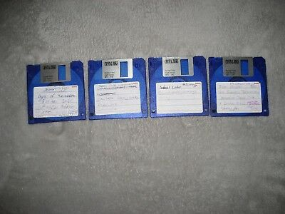 Floppy disk x4, double sided, high density, blue, as is