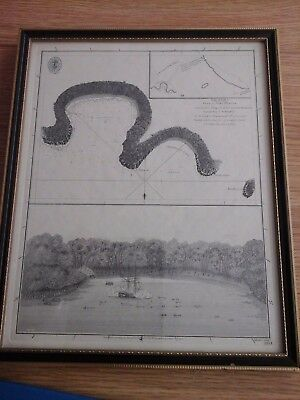 Scarce 18Th Century Map 1794 Port Hunter New Ireland Near Mint Condition