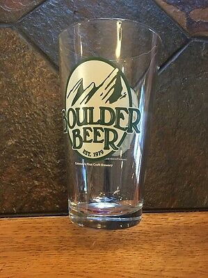 Boulder Beer pint glass enjoyed since 1979
