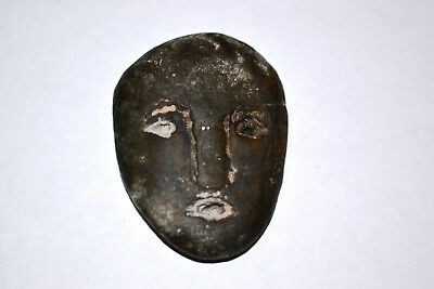 Museum Quality Bronze Age Stone Head Mask Face Amulet circa 3500 BC