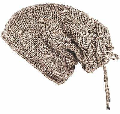 Lilax Cable Knit Slouchy Chunky Oversized Soft Warm Winter Beanie Hat (Light ...