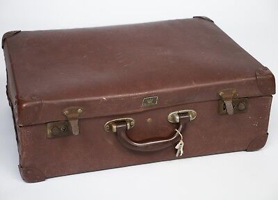 Vintage Noton Hurculax Suitcase 1940s Battered Shabby Chic Prop Wedding Cards