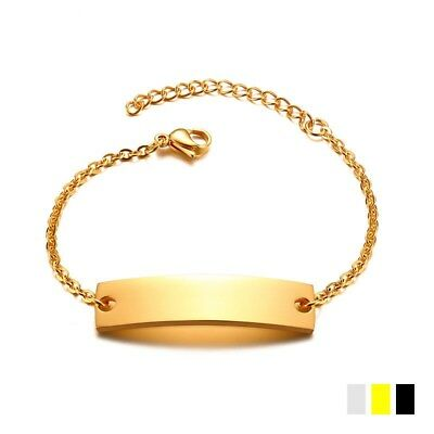 10*40mm Gold Chain Bracelets for Female Stainless Steel Charm Bangle Adjustable