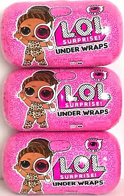 3 LOL Surprise Under Wraps Eye Spy Big Capsule Doll Series 4 L.O.L. IN HAND NEW