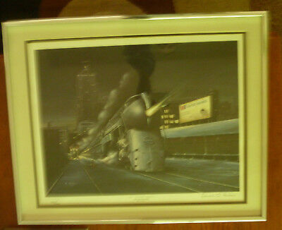 Edward O. Paulson Railroad Signed/Numbered Framed Print United Special Edition