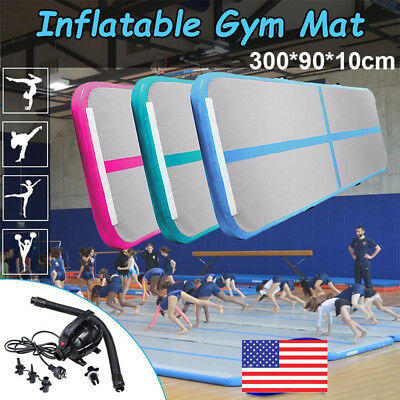 10ft Airtrack Inflatable Air Track Floor Gymnastics Tumbling Mat GYM ( Pump ) OY