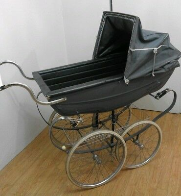 SILVER CROSS England Carriage Prom Stroller BABY Bassinet BUGGIES Vintage GRAY