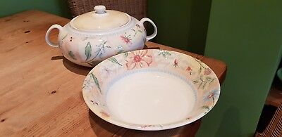 Boots Country Cottage Lidded Tureen & Serving Bowl ( Royal Stafford )