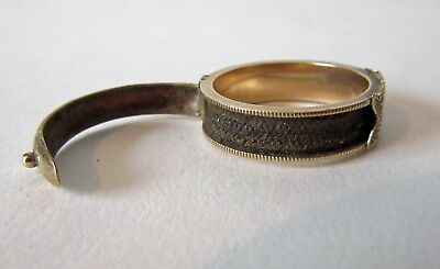 Antique  early 19th century gold mourning ring