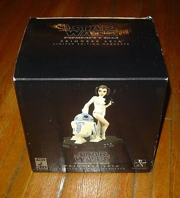 Star Wars Gentle Giant  Princess Leia & R2 D2 Animated Maquette L/e