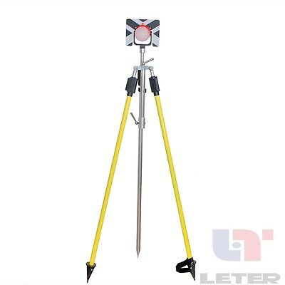 NEW1  Set  Prism Pole 2 15M  And bracket with Prism for Total Station Brand New